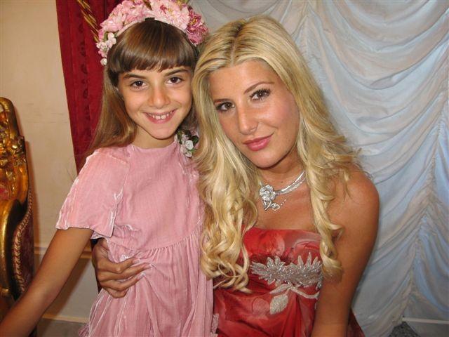 Angelica Cinquantini con Giada De Blank sul set de I Cesaroni 3