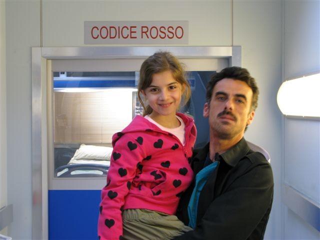 Angelica Cinquantini con Thomas Trabacchi sul set di Medicina Generale 2