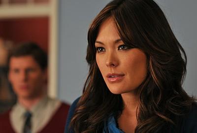 Lindsay Price, nel ruolo di Victory Ford nell'episodio 'Chapter Thirteen: The Lyin', The Bitch and the Wardrobe' della serie tv Lipstick Jungle