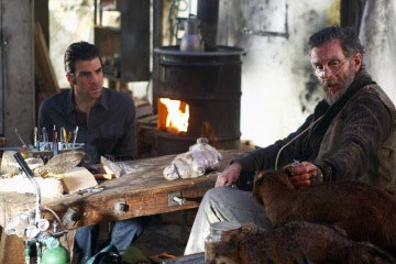 John Glover e Zachary Quinto in una scena dell'episodio Shades of Gray da Heroes