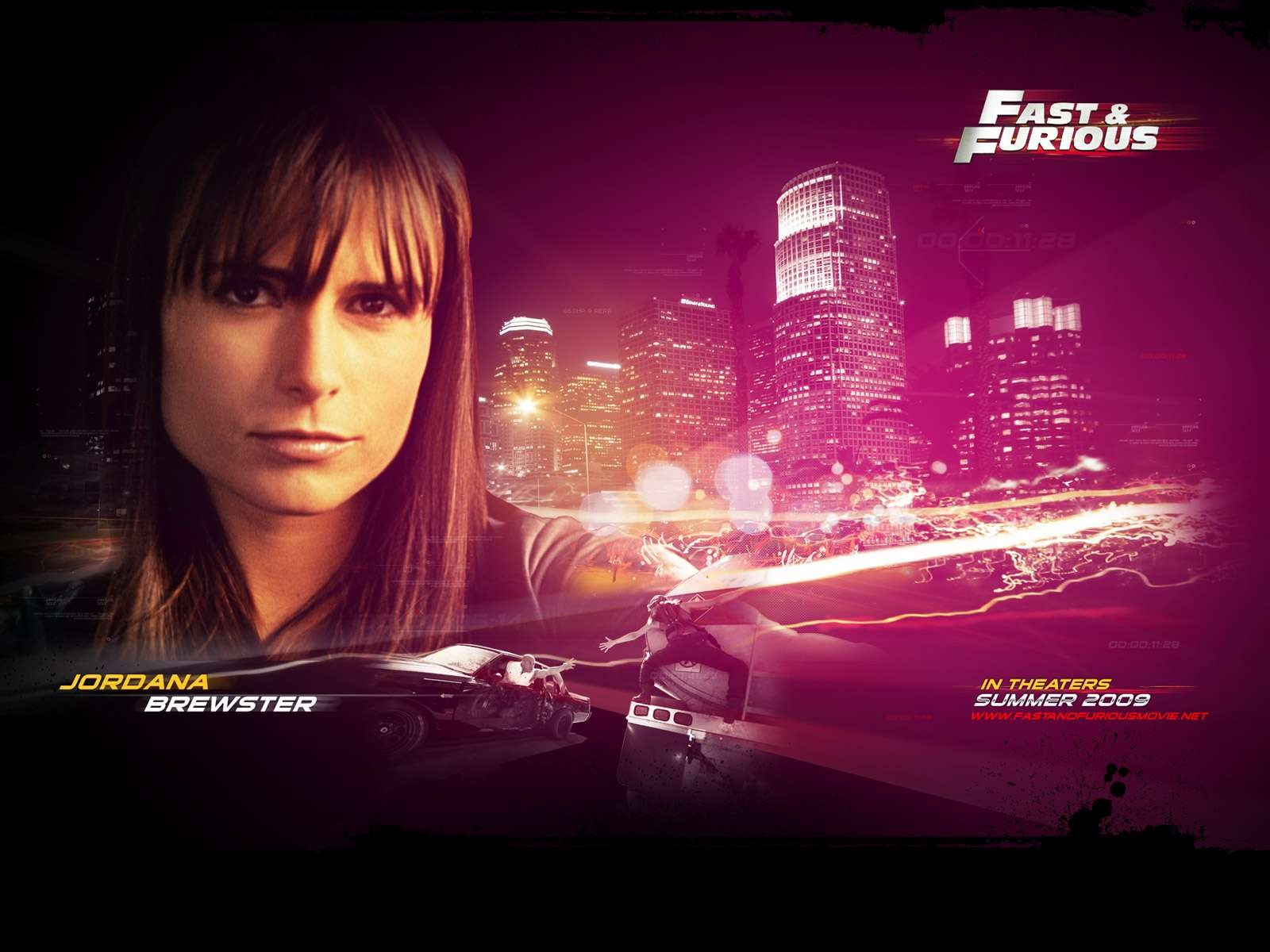 Un wallpaper del film Fast and Furious - Solo parti originali con Jordana Brewster