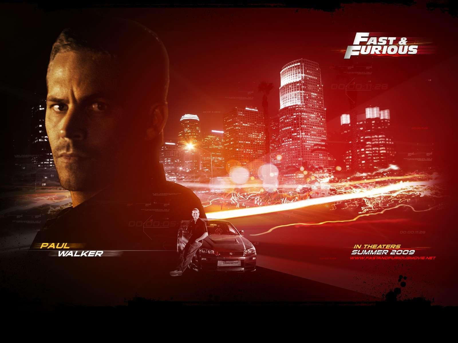 Un wallpaper del film Fast and Furious - Solo parti originali con Paul Walker