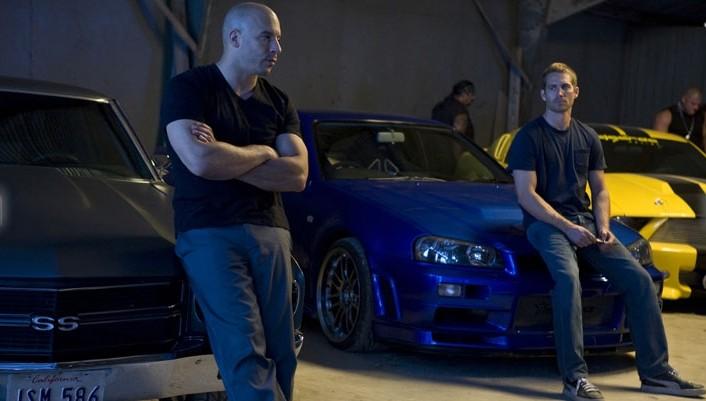 Vin Diesel e Paul Walker in un'immagine del film Fast and Furious - Solo parti originali