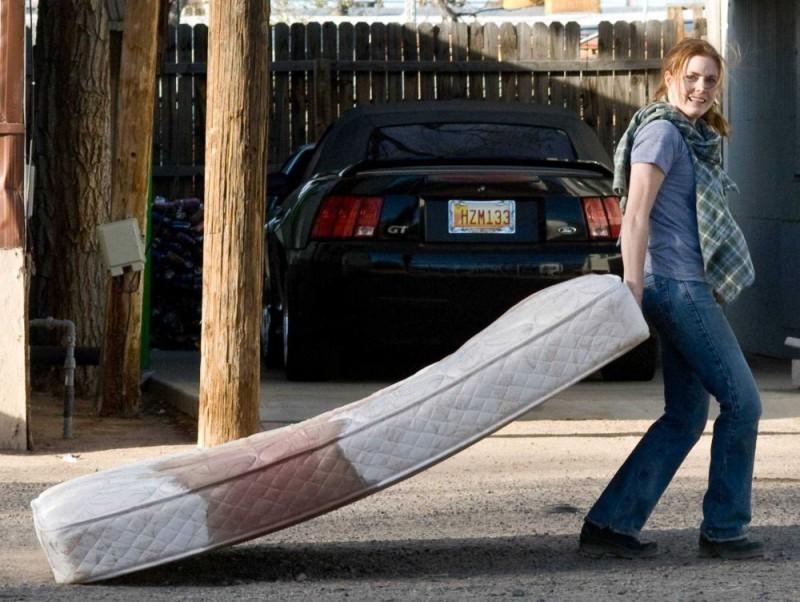 Amy Adams sul set del film Sunshine Cleaning
