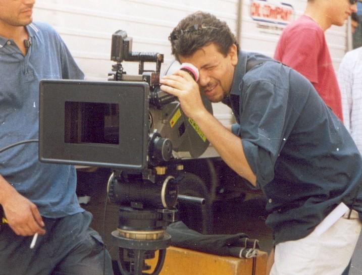 Il regista Bruno De Paola sul set del film Il sogno nel casello