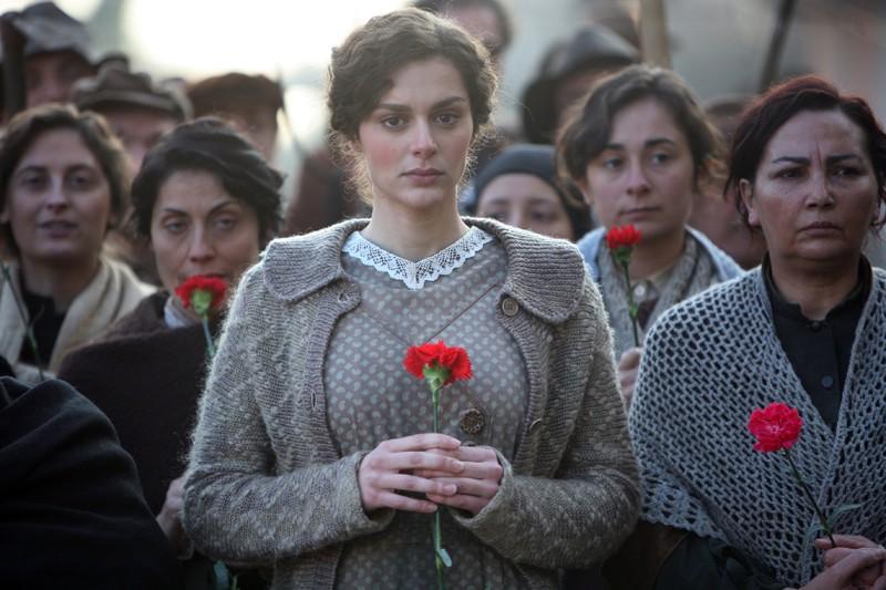 Raffaella Rea in una scena della fiction Pane e libertà