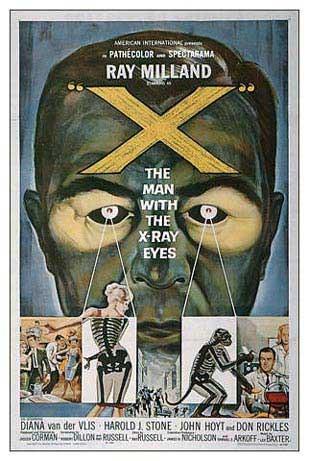 La locandina di L'uomo dagli occhi a raggi X