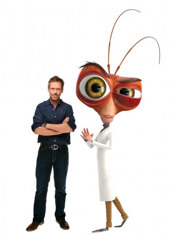 Hugh Laurie è la voce del Dr. Cockroach nel film d'animazione Mostri contro Alieni