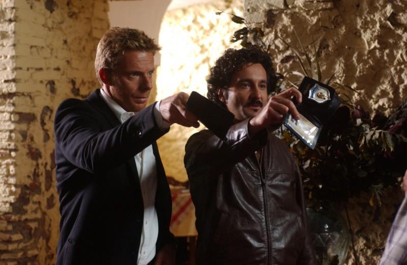 Kaspar Capparoni e Fabio Ferri in una scena di Rex 2