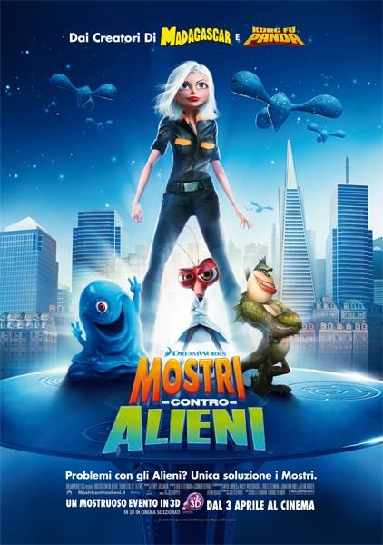 La locandina italiana di Mostri contro Alieni