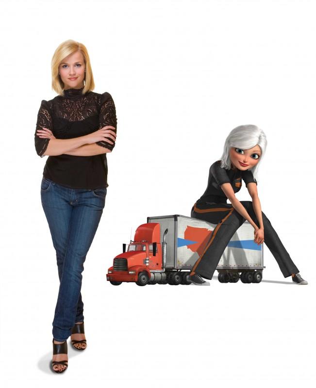 Reese Witherspoon è la voce di Susan Murphy/Ginormica nel film d'animazione Mostri contro Alieni