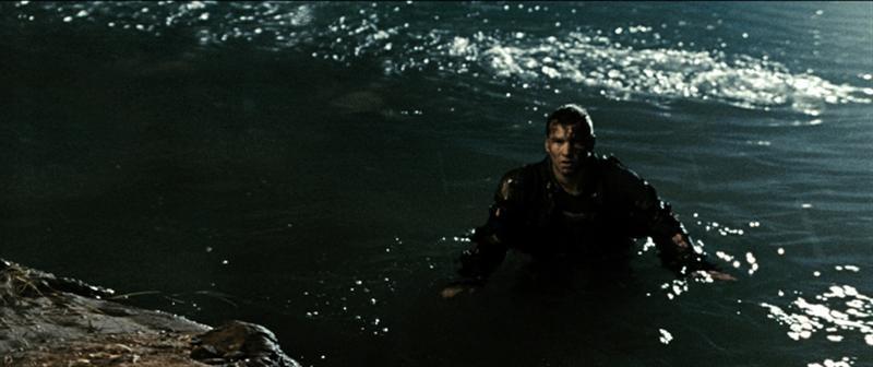 Christian Bale in una scena di Terminator Salvation