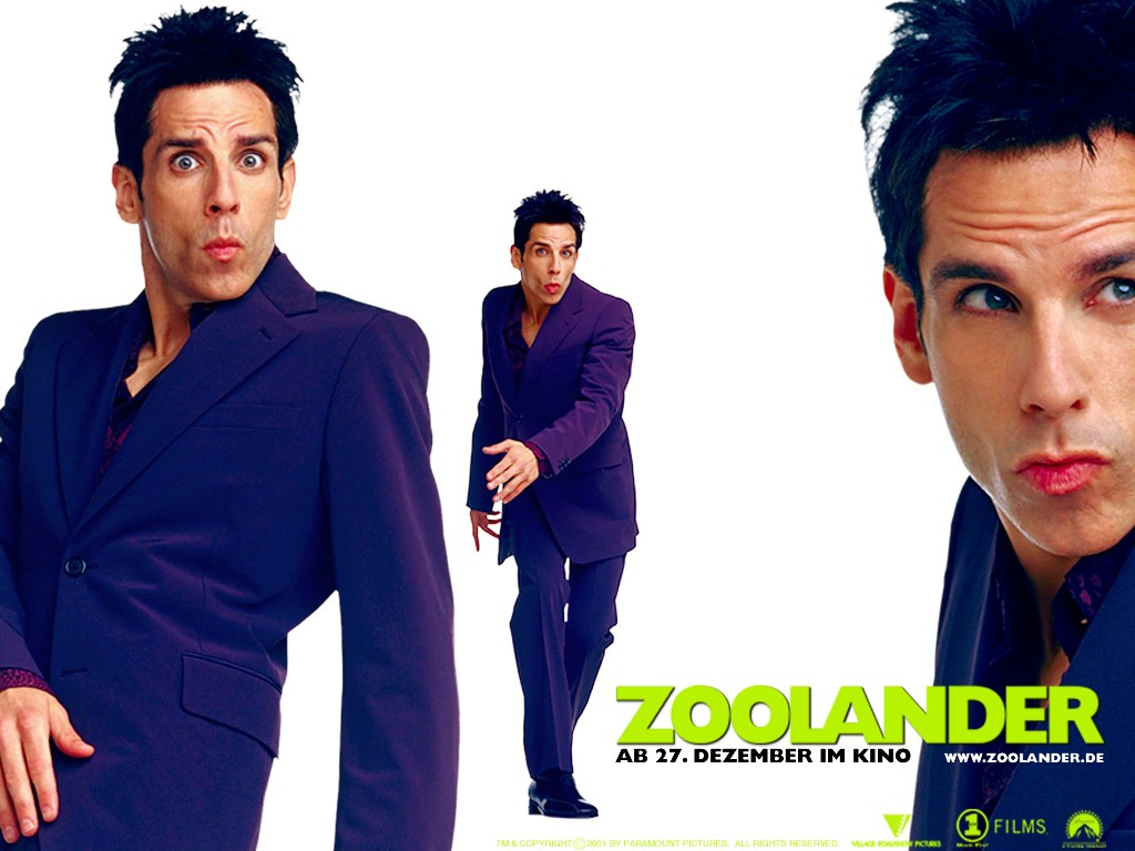 Un wallpaper del film Zoolander con Ben Stiller