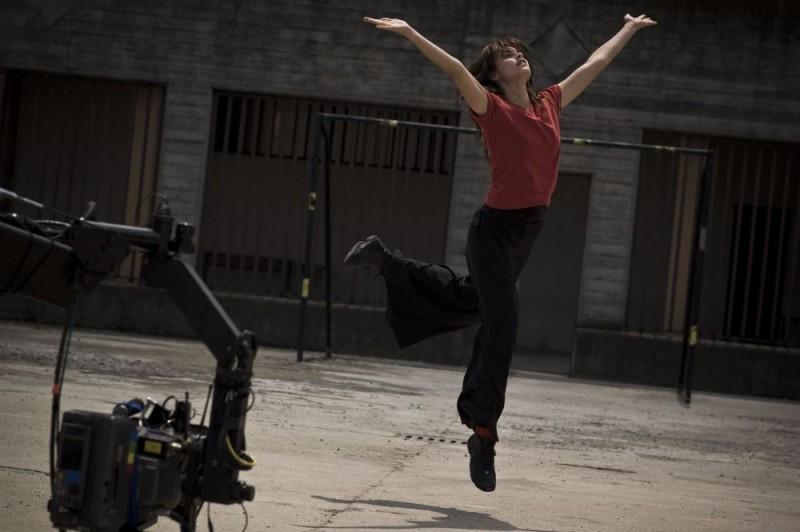 Kasia Smutniak sul set del film Tutta colpa di Giuda