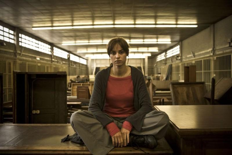 Kasia Smutniak sul set del film Tutta colpa di Giuda, diretto da Davide Ferrario