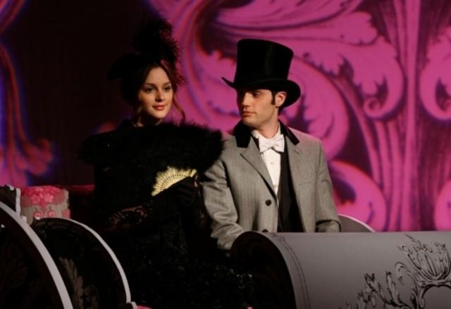 Leighton Meester e Penn Badgley nell'episodio The Age of Dissonance di Gossip Girl