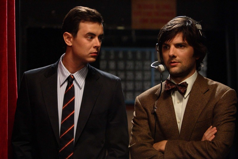 Colin Hanks e Adam Scott in una scena del film The Great Buck Howard