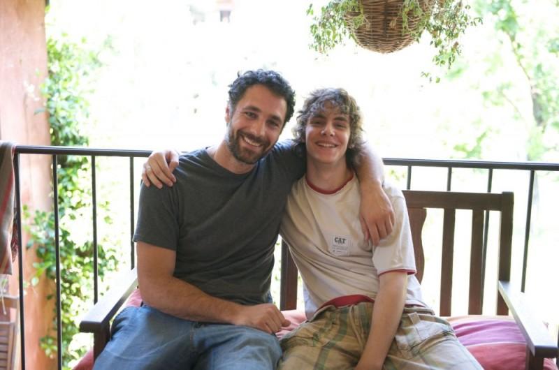 Raoul Bova e Alessandro Sperduti sul set del film Sbirri