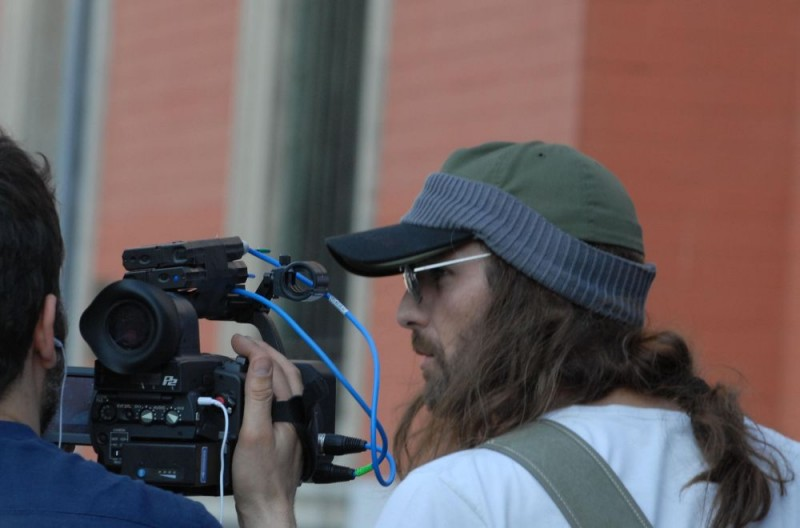 Raoul Bova sul set del film Sbirri