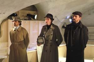 Giuseppe Butera con Davide Marzi ed Adriano Braidotti ne Il tempo e la stanza (di Botho Strauss, regia Walter Pagliaro)
