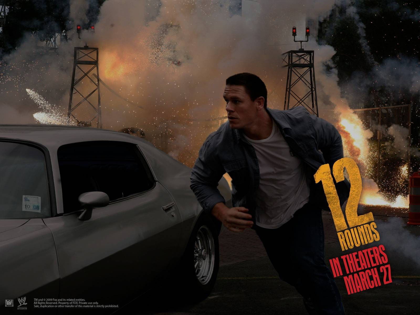 Un wallpaper di 12 Rounds con John Cena