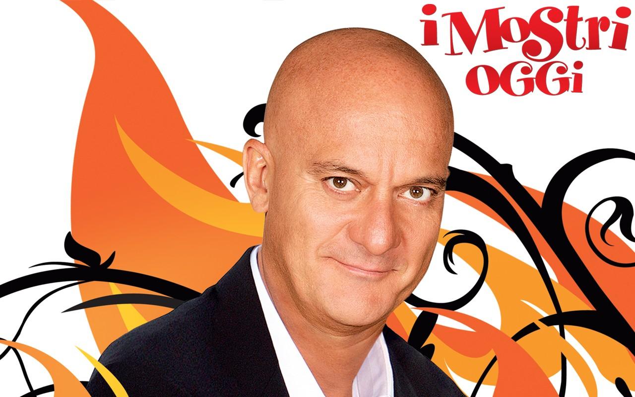 Claudio Bisio in un wallpaper del film I Mostri oggi
