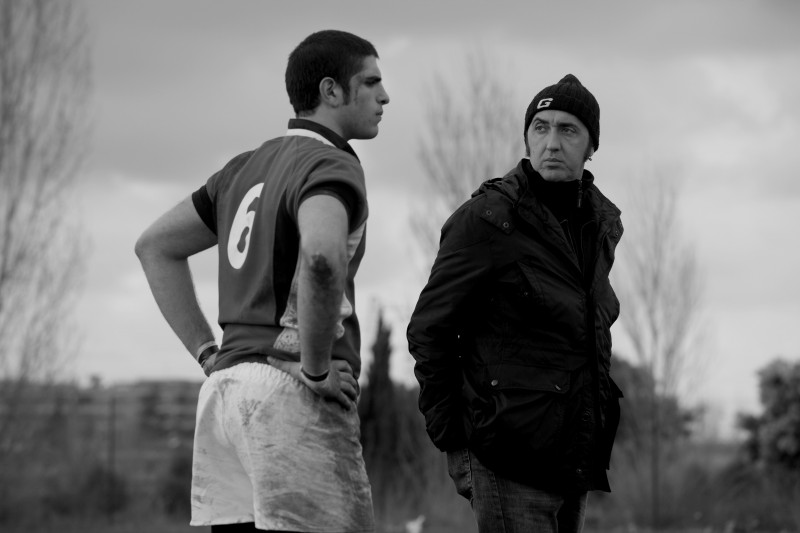 Paolo Sorrentino e Renato Gnani sul set del corto 'La partita lenta' che fa parte del progetto PerFiducia