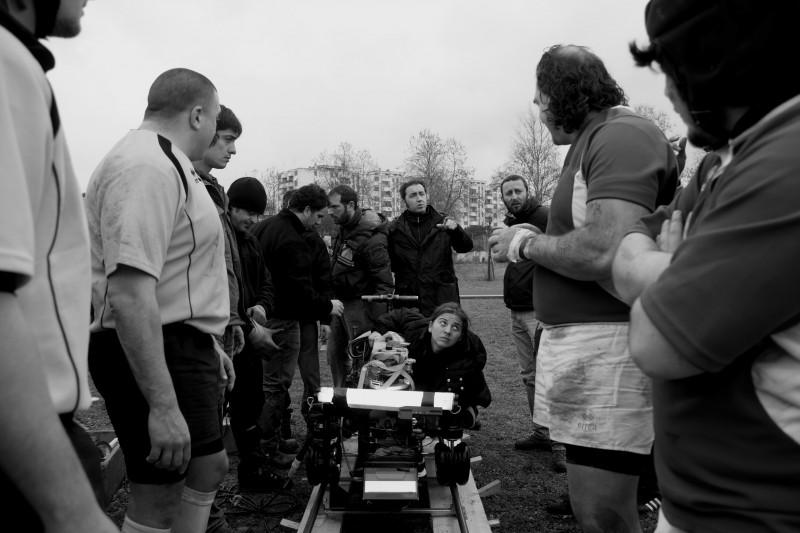 Paolo Sorrentino sul set del corto 'La partita lenta' che fa parte del progetto PerFiducia