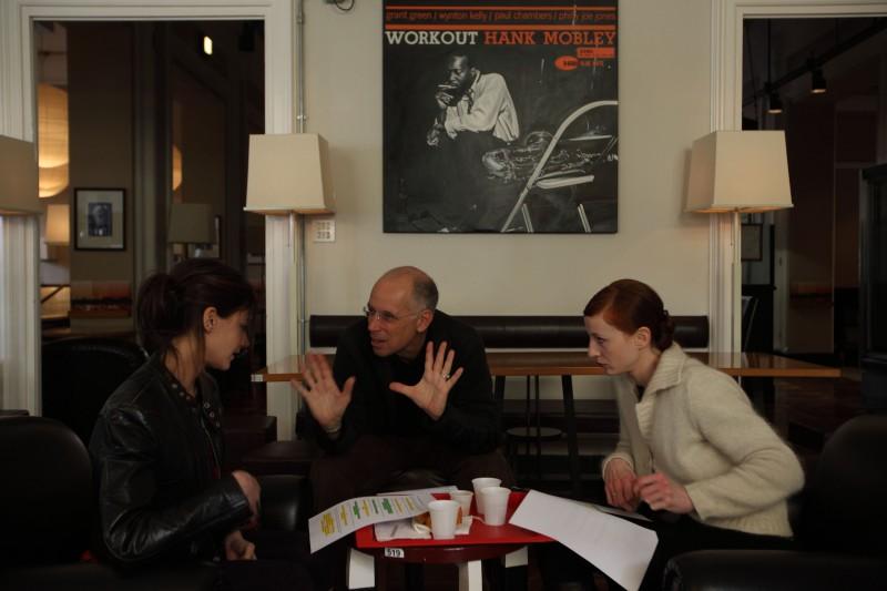 Tania Garibba, Roberta Rovelli e Gabriele Salvatores set del corto 'Stella' che fa parte del progetto PerFiducia
