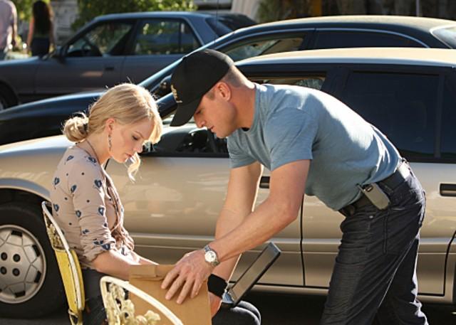 George Eads insieme a Taylor Swift nell'episodio 'Turn, Turn, Turn' della nona stagione di CSI - Las Vegas