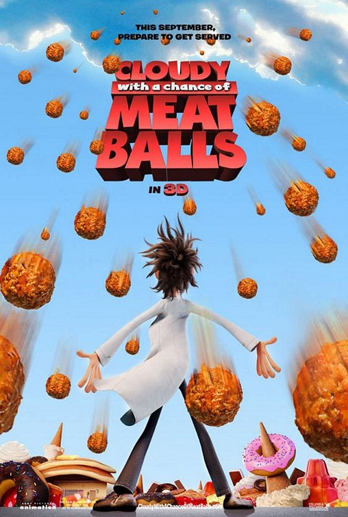 Il poster di Cloudy with a Chance of Meatballs