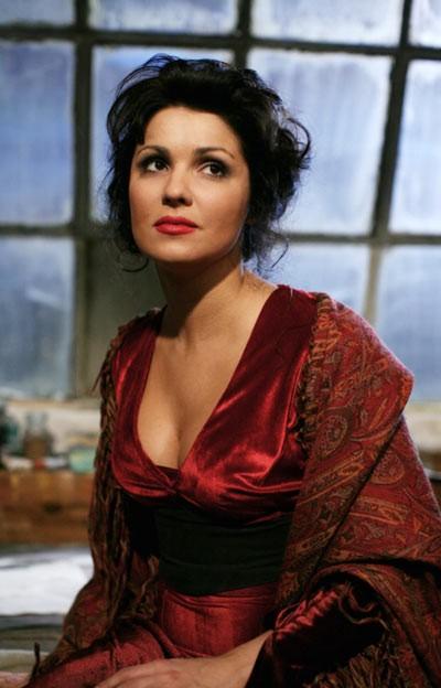 Anna Netrebko in un'immagine del film La Bohème