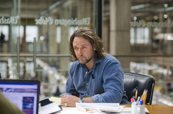 Russell Crowe è il protagonista del film State of Play