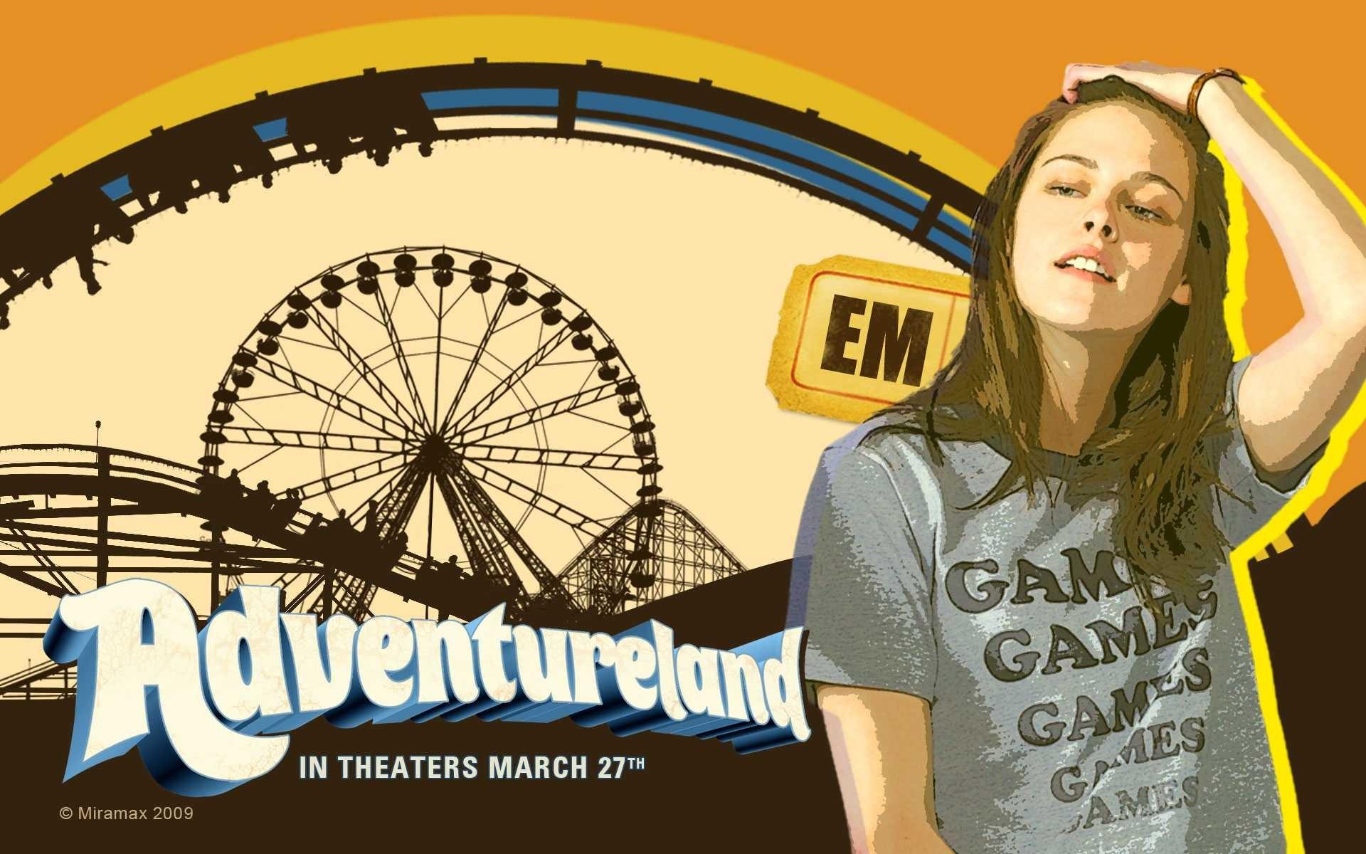 Un wallpaper del film Adventureland con Kristen Stewart