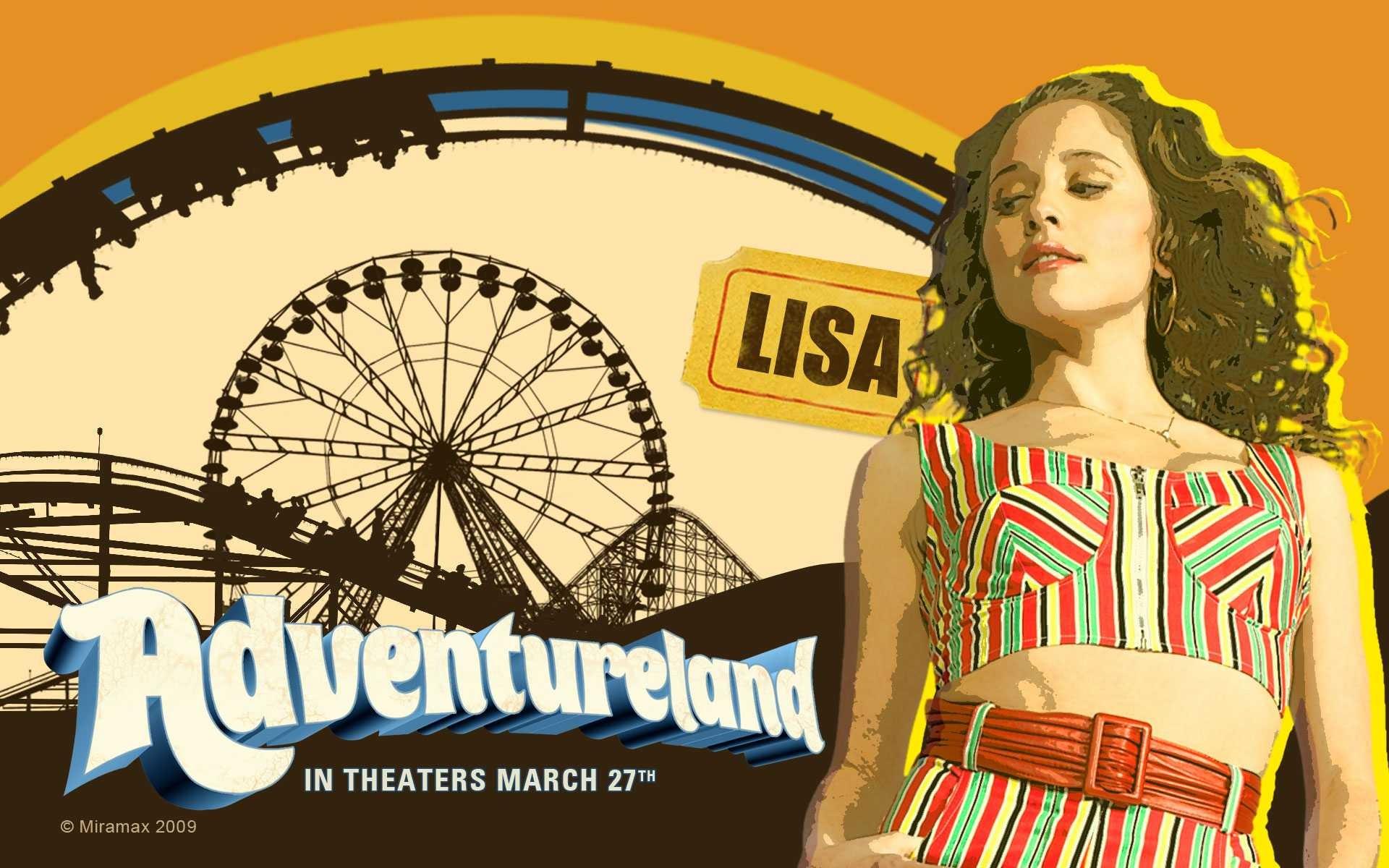 Un wallpaper del film Adventureland con Margarita Levieva