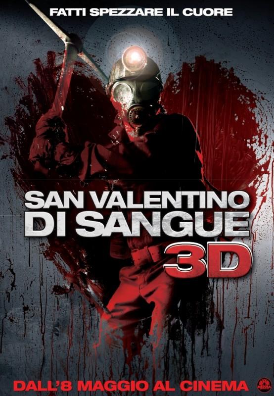 Locandina italiana di San Valentino di sangue 3D