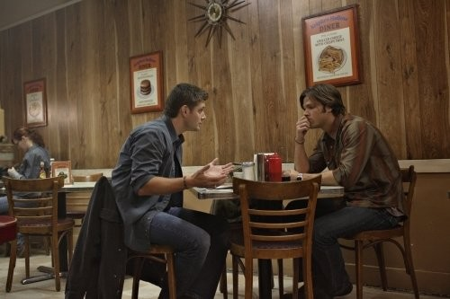 Jared Padalecki e Jensen Ackles nell'episodio The Monster at the End of this Book di Supernatural