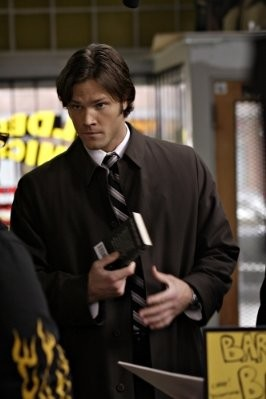 Jared Padalecki in una scena dell'episodio The Monster at the End of this Book di Supernatural