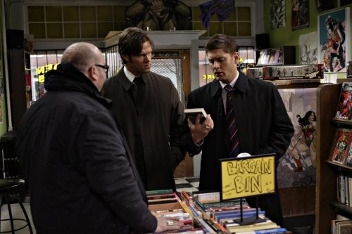 Jensen Ackles e Jared Padalecki in una scena dell'episodio The Monster at the End of this Book di Supernatural