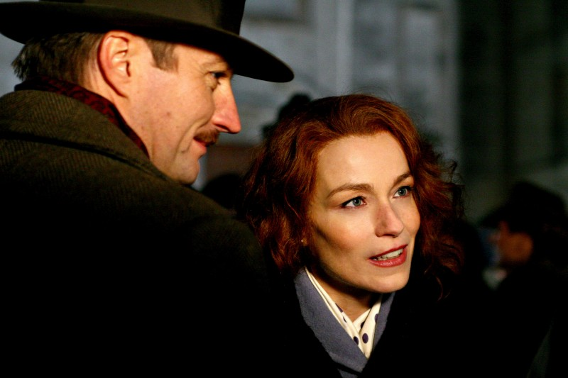 Alberto Molinari e Stefania Rocca in una scena della fiction Bakhita