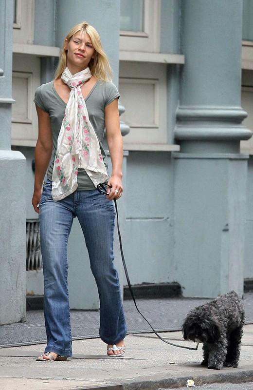 Claire Danes con il suo cane