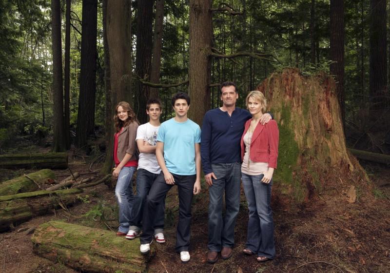 Famiglia Trager, protagonista del serial Kyle X nel bosco