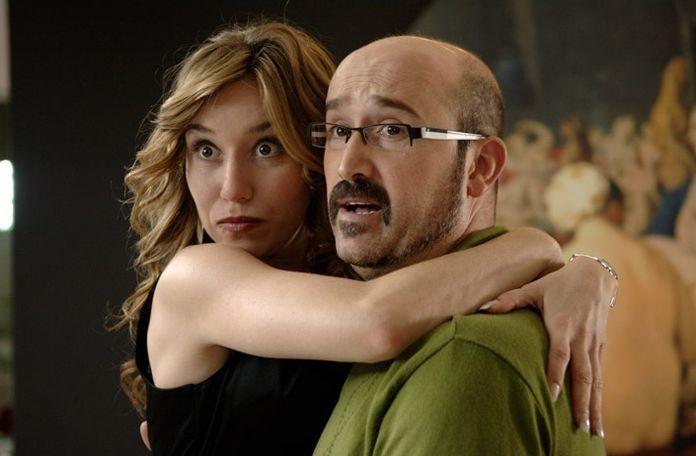 Lola Dueñas e Javier Cámara in una scena del film Fuori menù