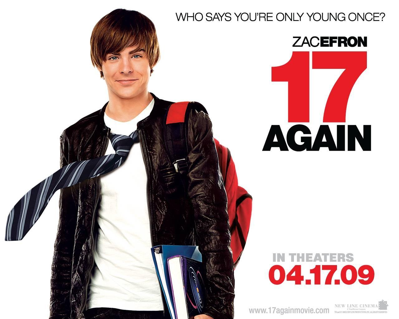 Un wallpaper del film 17 Again - Ritorno al Liceo con Zac Efron