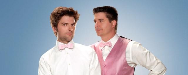 Adam Scott e Ken Marino in una foto promozionale di Party Down