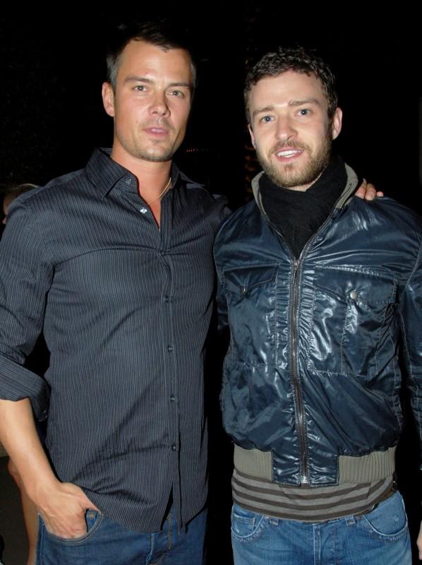 Josh Duhamel e Justin Timberlake durante un evento di beneficenza, nel 2008