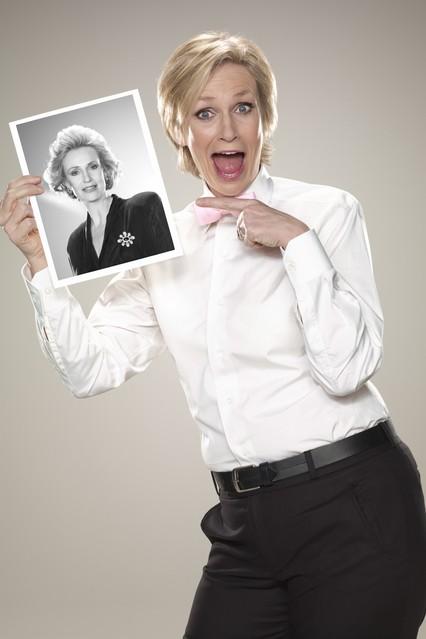 Una foto promozionale di Jane Lynch per la serie TV Party Down