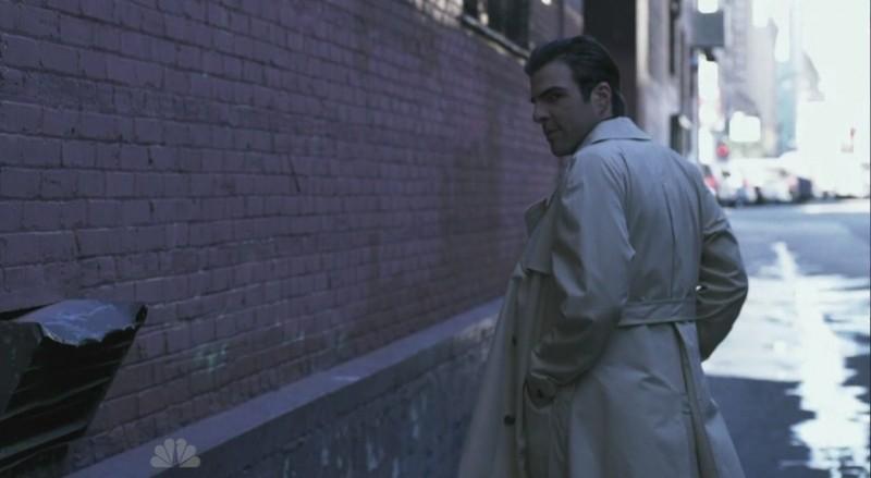 Zachary Quinto in una scena di Turn And Face The Strange dalla terza stagione di Heroes