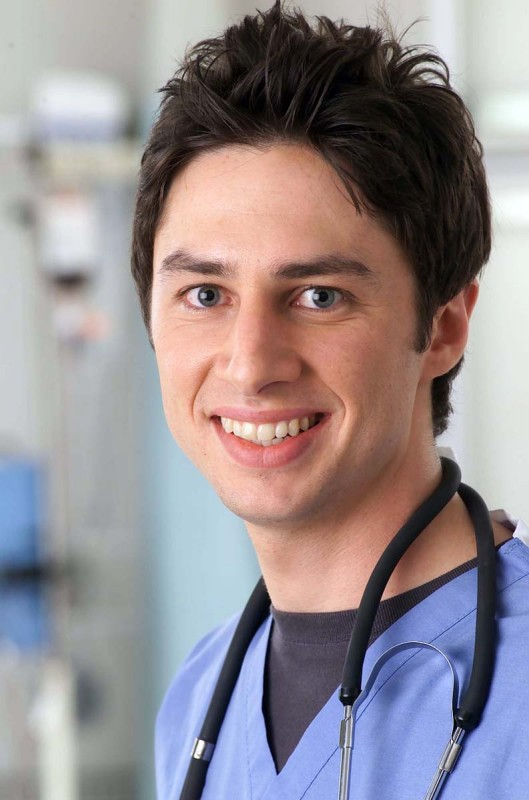 Un primo piano di Zach Braff in Scrubs