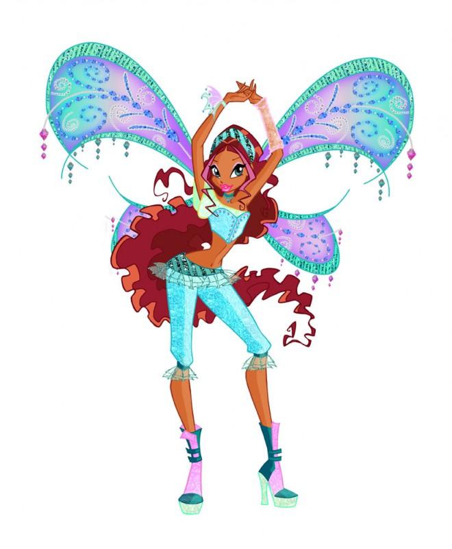 Una nuova trasformazione di Aisha in un'immagine della quarta stagione della serie Winx Club